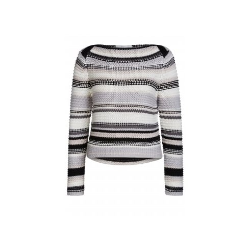 Oui 57003 OUI CHUNKY STRIPED SWEATER