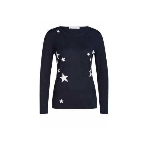 Oui 57252 OUI SWEATER WITH STARS