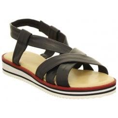 Ara Flat Sandal with Elasticated Heel Strap - 14726