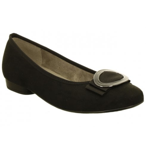 Ara Suede effect Pump with Bow - 53320