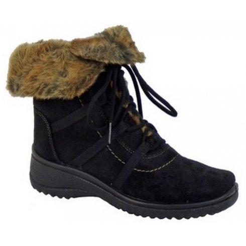 Ara Waterproof Boot With Fur Cuff 48523
