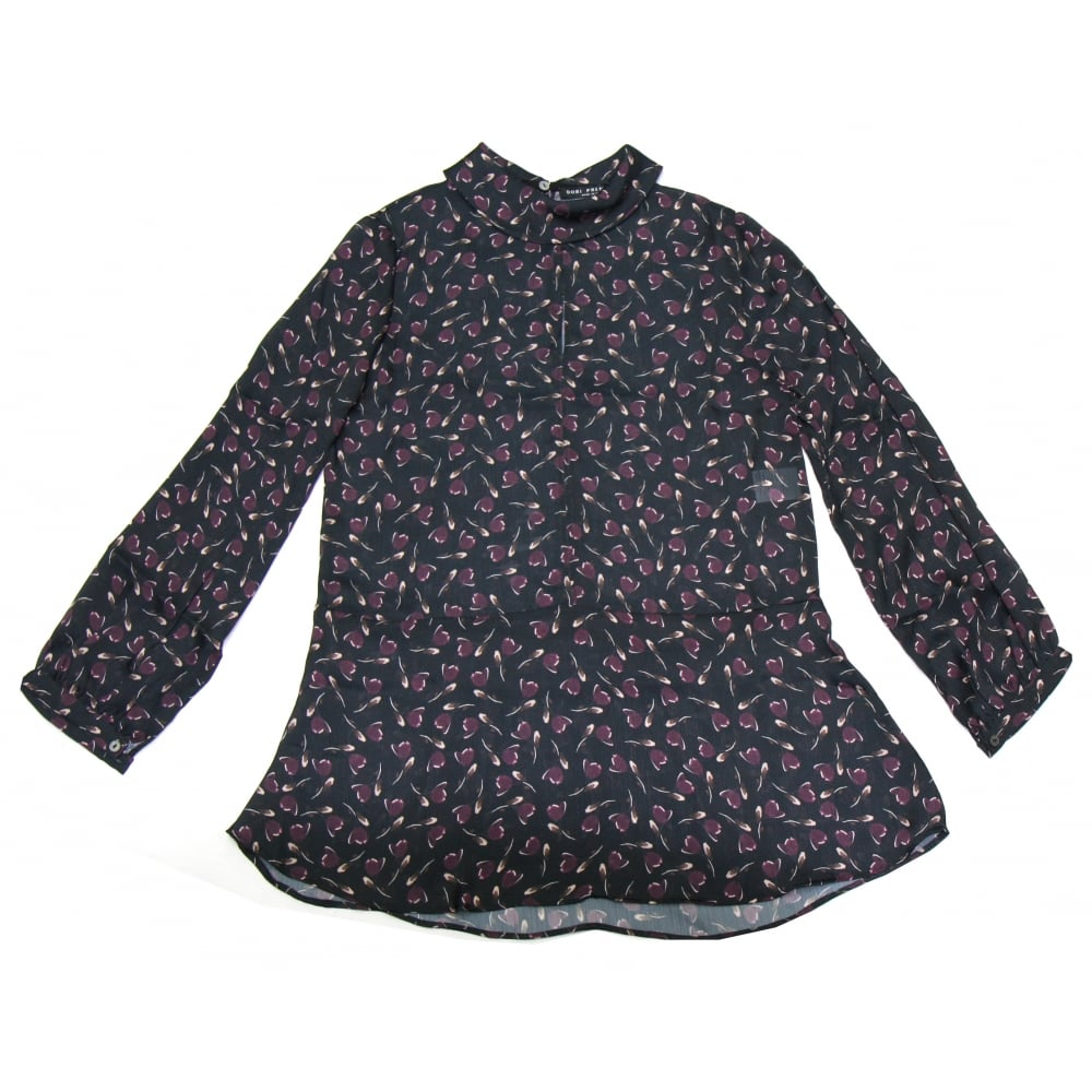 ad171d9dff987 Black Dori Premiere Patterned Blouse From Something For Me