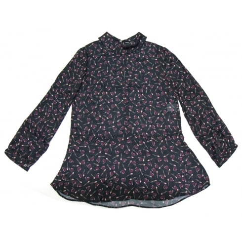Dori Premiere Black Dori Premiere Patterned Blouse - 2560