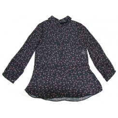 Black Dori Premiere Patterned Blouse - 2560