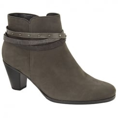 Black & Grey Solero2 Gabor Heeled Ankle Boot 75.611