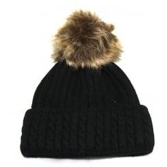 Black Something For Me Bobble Hat - 391101