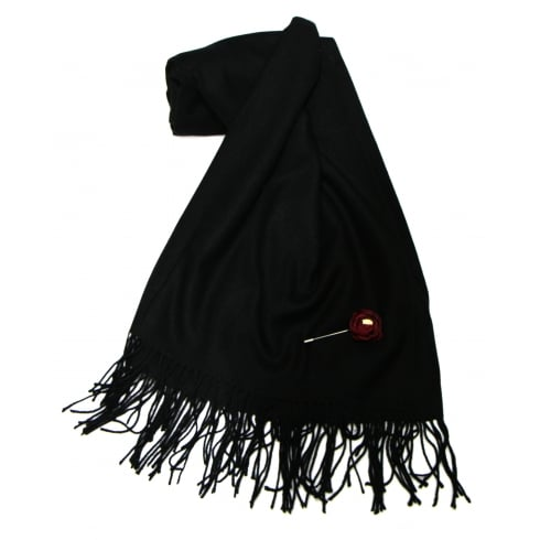 Something For Me Black Something For Me Pashmina - 387001