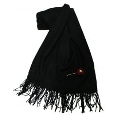 Black Something For Me Pashmina - 387001