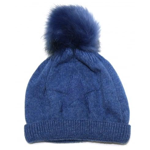 Something For Me Blue Star Something For Me Bobble Hat - 391202