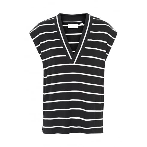 InWear CYBEL INWEAR STRIPED VNECK TOP