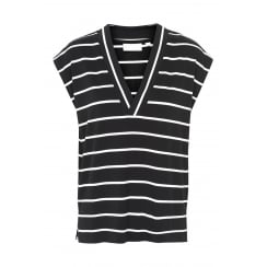 CYBEL INWEAR STRIPED VNECK TOP