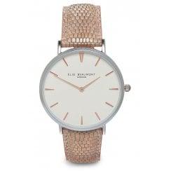 Elie Beaumont Mock Croc Skin Leather Strap Watch - Sloane