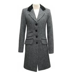 Eliz Scott Harris Tweed Coat Lilly