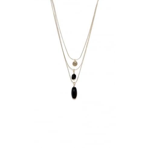 Envy Jewellery Gold Triple Chain Long Envy Necklace