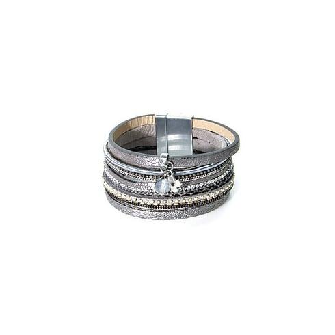 Envy Jewellery Grey Envy Multi Cuff Bracelet