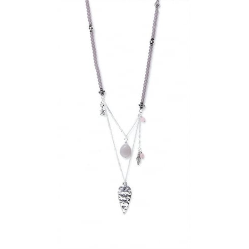 Envy Jewellery Grey Long Envy Double Chain Necklace