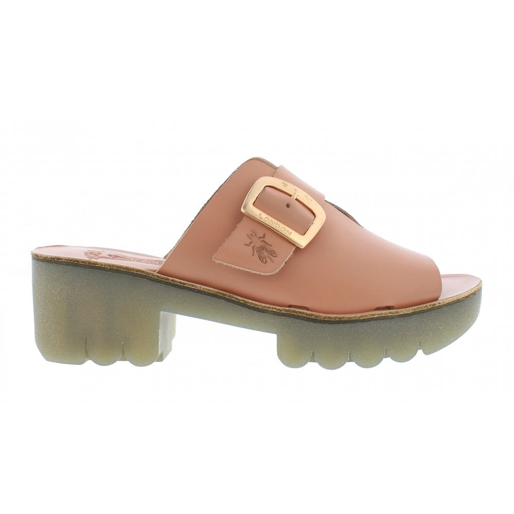 Ladies Fly London Wigg672 Slip On Wedge Mules Leather All Colours Size New