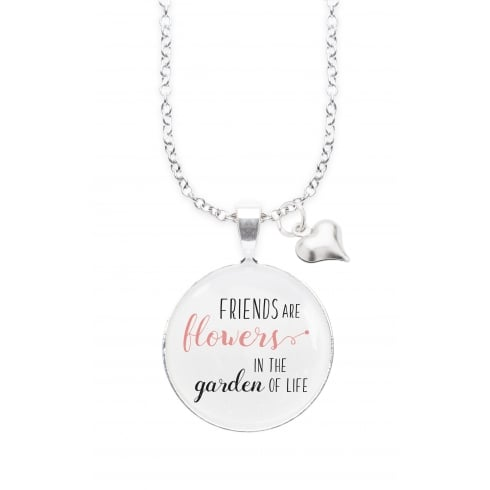 Winged Words FRIENDS FLOWERS WINGED WORDS NECKLACE