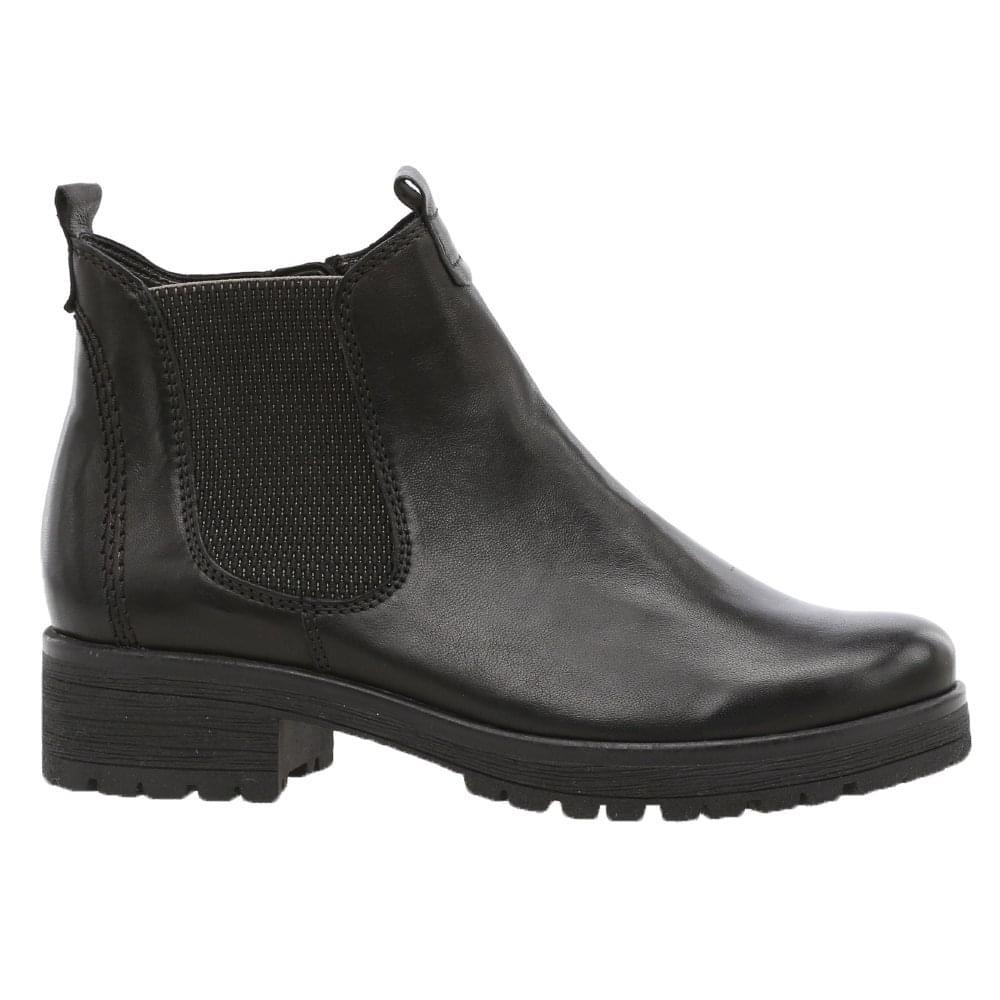 a5de405d4e0ed Gabor: Agenda black leather chelsea ankle boots