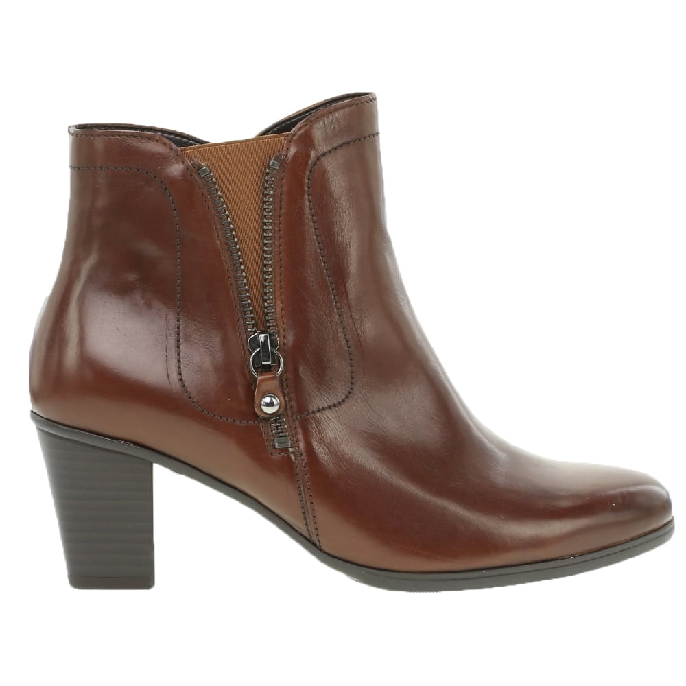 3a70ec0c0928c Gabor: High cut sock style ankle boots in black navy or tan leather