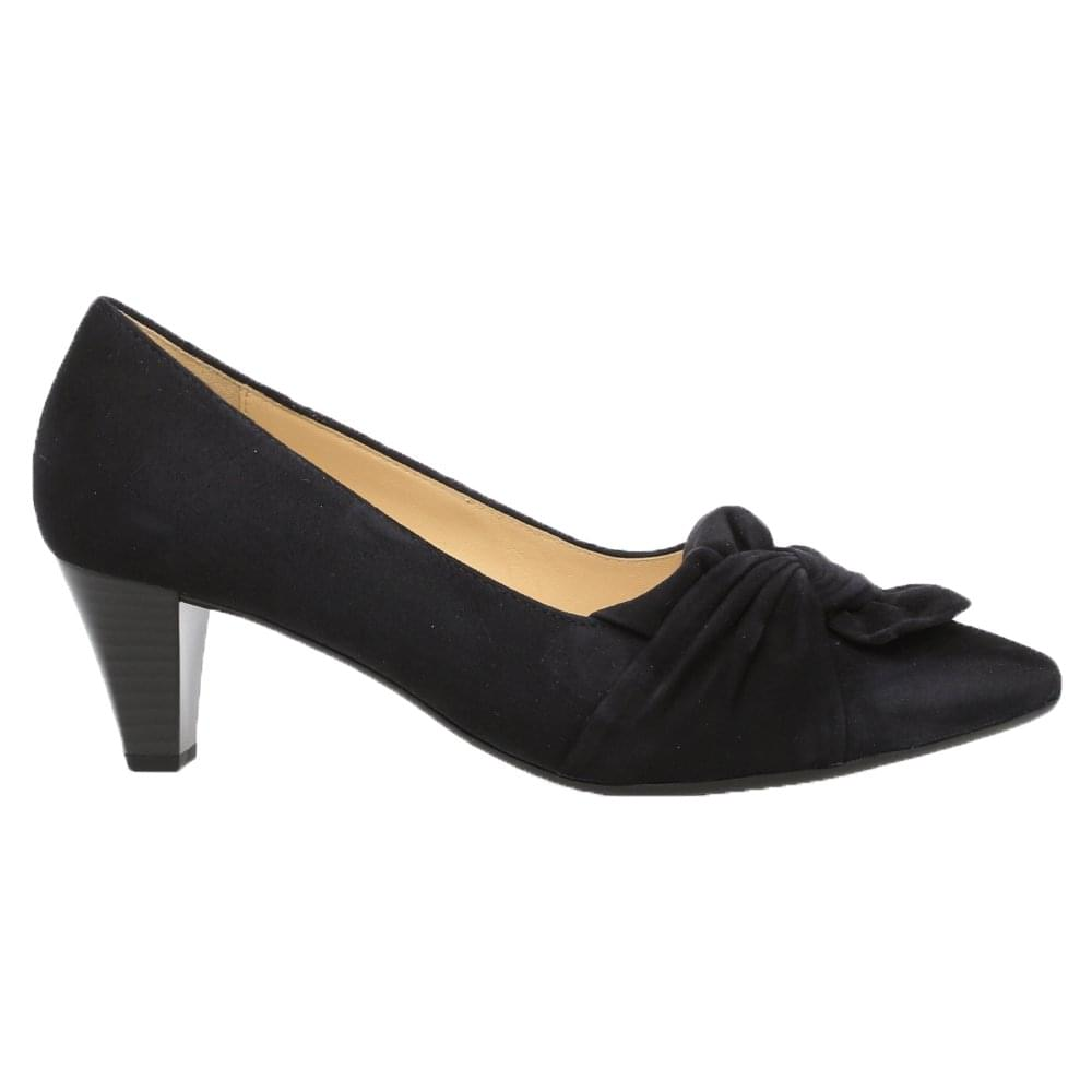 05a56faa0f25f Gabor Tricky: Pointed court shoe heels in black or navy suede with ...