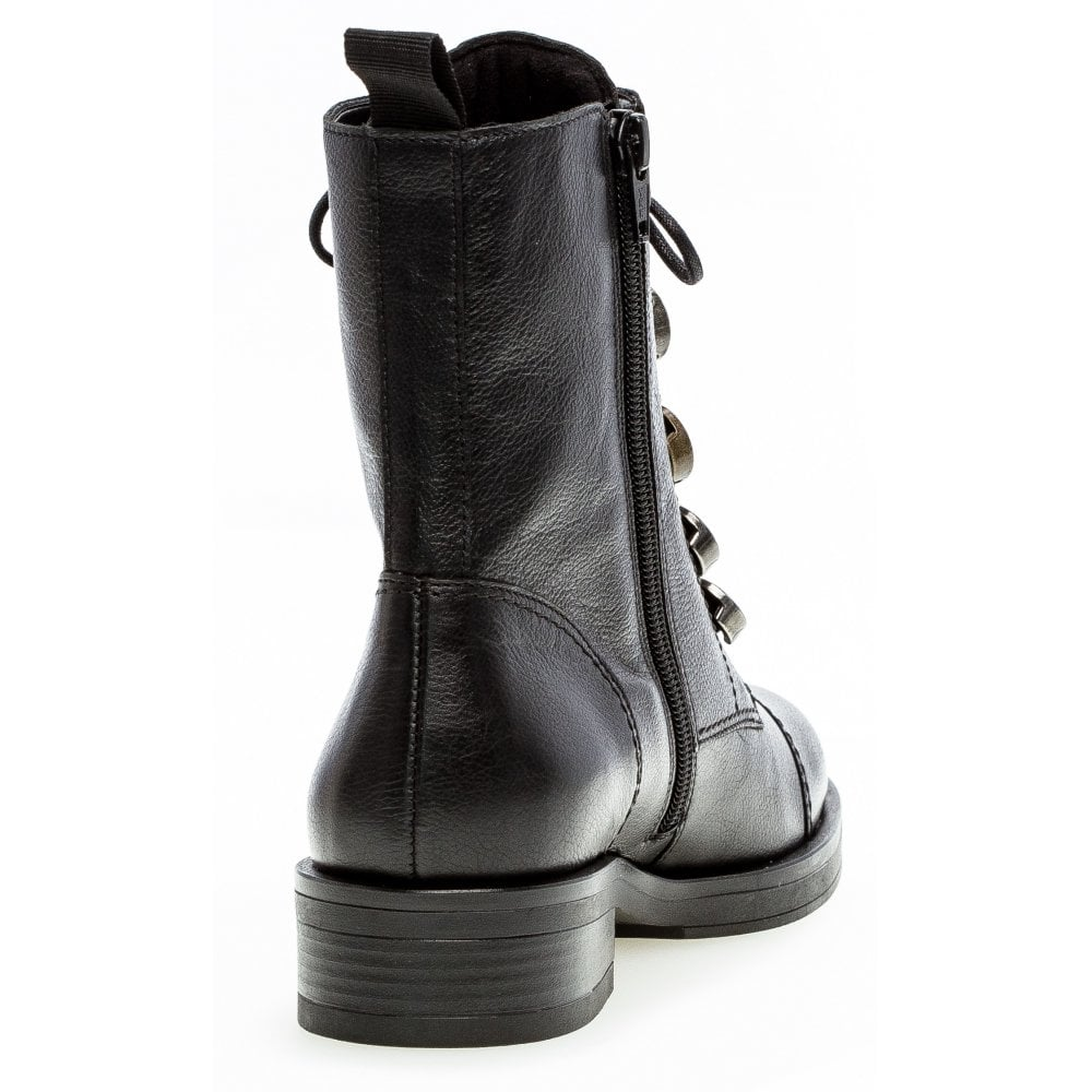 Gabor Lace Up Biker Ankle Boot - Lady