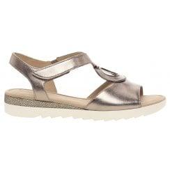 Gabor Metallic Flat Sandal - Ellis - 22.745