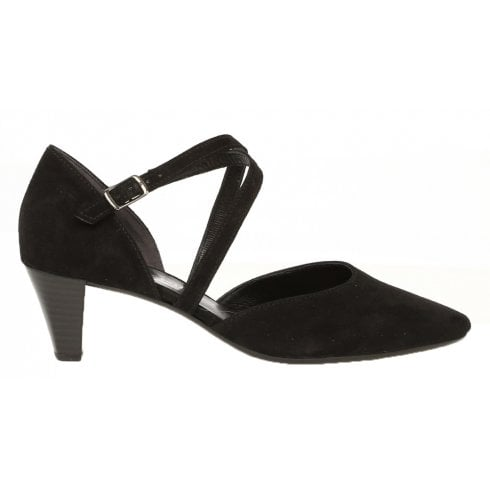 Gabor Pointed Toe Court Shoe With Straps - Callow - 21.363