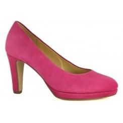 Gabor Suede Court Shoe - Splendid 81.270