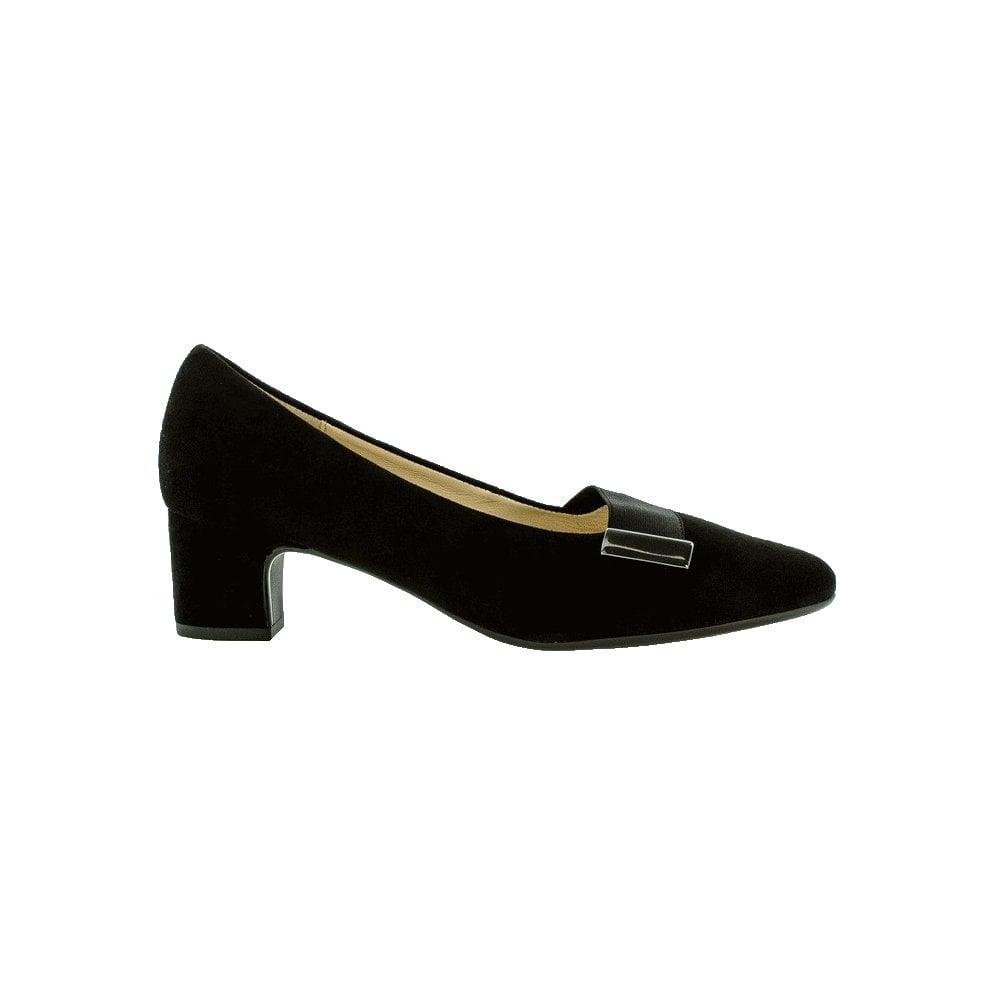 Gabor Suede Low Heel Court Shoe - Ember