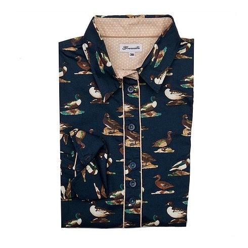 Grenouille Printed Ladies Shirt - Duck