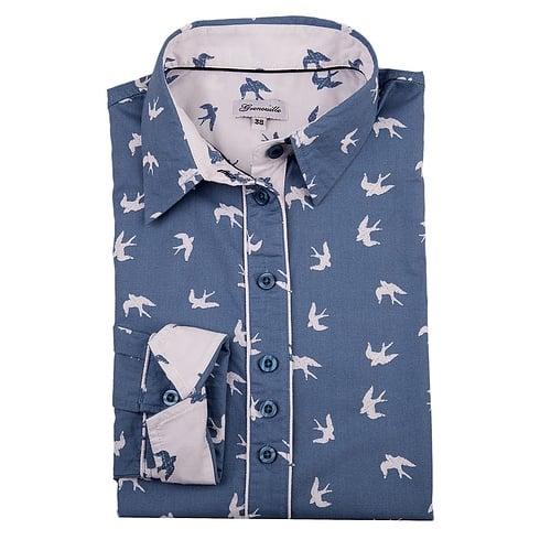 Grenouille Printed Shirt - Bird