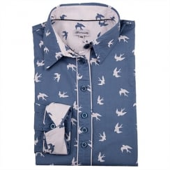 Grenouille Printed Shirt - Bird