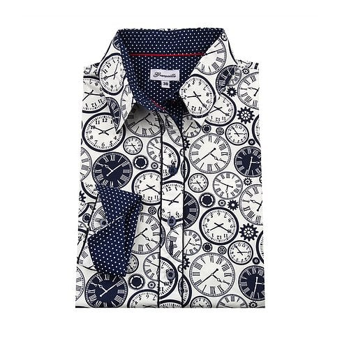Grenouille Shirt - Clocks
