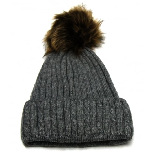 Something For Me Grey Something For Me Bobble Hat - 391112