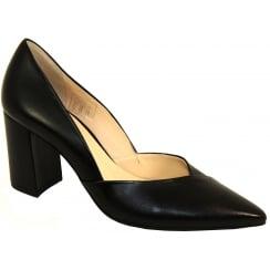 Black Hogl Court Shoe - 107500