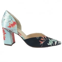 Hogl Satin Floral Court Shoe - 107518