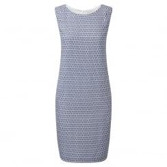 Lea Printed Navy Dress