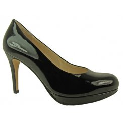 High Heeled Patent Court Shoe 108004