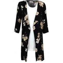 Isay Long Floral Kimono Coat - 56031 Biana