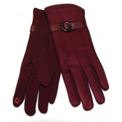 Ladies Burgundy Something For Me Touch Screen Gloves - 391804