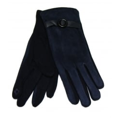 Ladies Navy Something For Me Touch Screen Gloves - 391814
