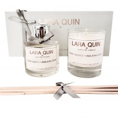 Luxury Candle Gift Set | SMOKY QUARTZ + HIMALAYAN CEDAR