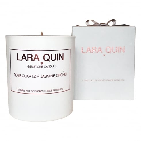 Lara Quin Luxury Candle | ROSE QUARTZ + JASMINE ORCHID