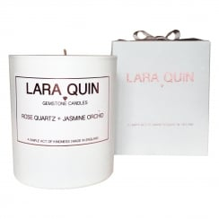 Luxury Candle | ROSE QUARTZ + JASMINE ORCHID