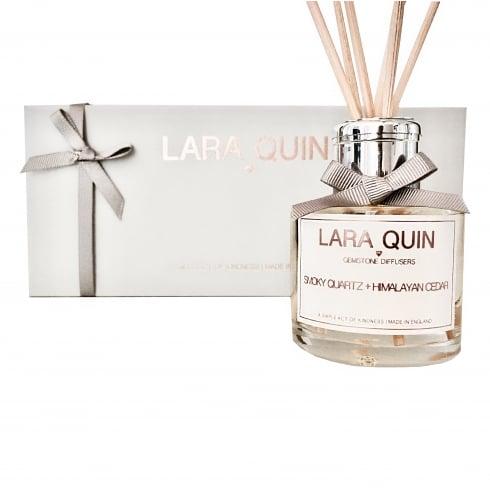 Lara Quin Luxury Reed Diffuser | SMOKY QUARTZ + HIMALAYAN CEDAR