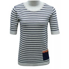 Leo & Ugo Short Sleeved, striped Sweater - CE101
