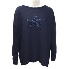 Luella Cashmere Blend Sweater - Sequin Star