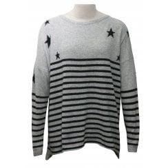 Luella Cashmere Blend Sweater - Stars & Stripes
