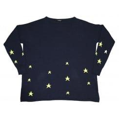 Luella Cashmere Sweater- Violet Cashmere